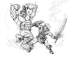He-man Vs. Hulk Final Pncls by CdubbArt