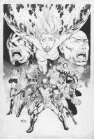 Fred Benes: X-Men by comiconart