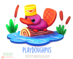 Daily Paint 1619. Playdoughpus by Cryptid-Creations
