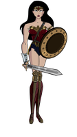 JL Wonder Woman Dawn of Justice (Shield and Sword) by Alexbadass