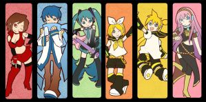 VOCALOID in Pop'n Music by sojiron