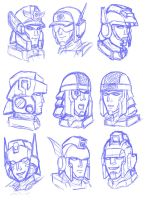 Brave Police J-Decker sketches by Wrecker-lady
