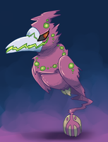 PKMNation: Rose/Sketches Clutch(?) [Not Even Man] by garbagekeeper