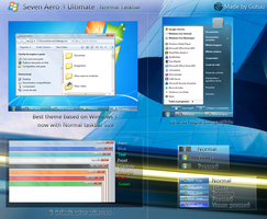 Seven Aero 3 Normal Taskbar by Gutuu