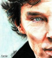 Benedict Cumberbatch - Sherlock by cecilepellerinfrance