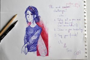 Pen And Marker Challenge by Famion