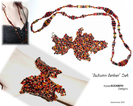 Autumn Amber Set by KarenElizabeth