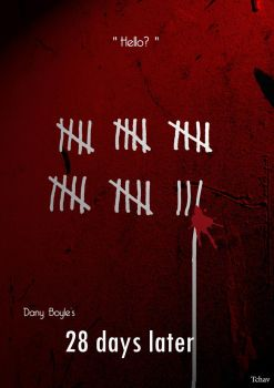 28 Days Later Minimalist Poster by Tchav