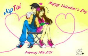 APH: JapTai - Happy V's Day by KaiChika