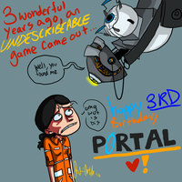 Happy Birthday, PORTAL by Wolf-Shadow77