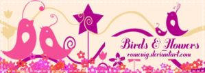 Birds and Flowers Brushes by Romenig