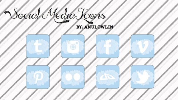 Social Media Icons Pack 7 by Anulowlin