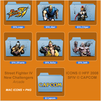 SFIV New Challengers - Icons by iFab