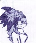 Future Blaze pen sketch by Sayonara------Shadow