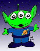 Toy Story Alien by JimmyCartoonist