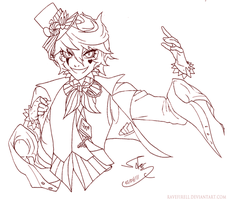 Lineart: Gaiaonline Ringmaster by ravefirell