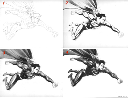 Superman WIP Progression by PearlT