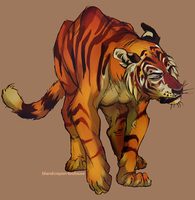 golden tiger by blandcrayon