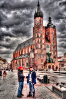 Bell tower on Krakow square by vzzzbux