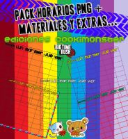 Pack Horarios PNG y Materiales by CooKimonsterEditions