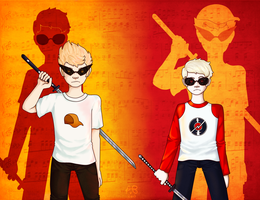 Freaking Parallel Strider Bros 'n Shit by Strawberry-Itchiko