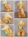 [SOLD] Filly Applejack plushie by Rasaliina