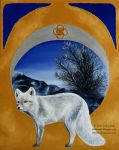 Foxes of the Seasons - Winter Polar Fox by Olvium