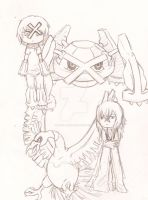 Gijinka and Pokemon 3 by Pencil-Only