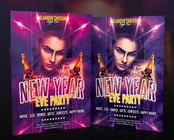 Free New Year Eve Flyer PSD Template by imagingdc
