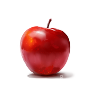 Study: Apple Still Life by fivetinsoldiers