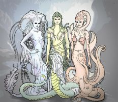 The Gorgon Sisters by hycal