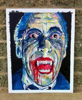 Christopher Lee as Dracula by JChattox