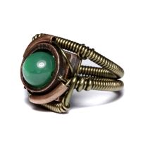 Steampunk green ring by CatherinetteRings