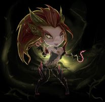 League of Legends - Zyra (Chibi) by kapiheartlilly