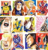 Wolvie Sketchcards - part 2 by MarcFerreira