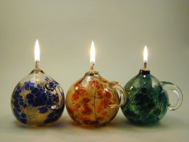 oillamps by Bendzunas-Glass