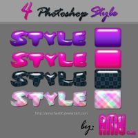4 Photoshop Styles by amuchan06