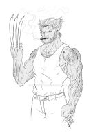 Wolverine smokes by jey2dworld