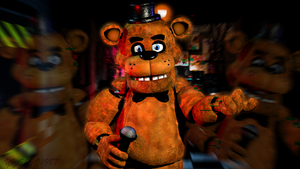 C4D| Freddy Texture Test by YinyangGio1987
