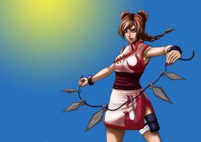 Tenten: I never miss my target! by Delaving