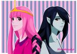 Princess Bubblegum and Marceline - Adventure Time by Nanaruko