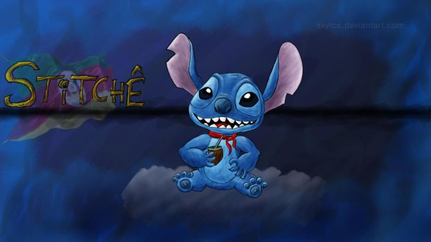Stitche! (fanart of stitch) by skyice