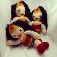 Wonder Woman Crocheted Doll by beckadoodles