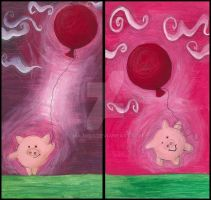 little piggy and his baloon by majush