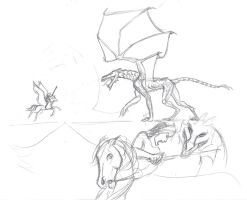 Studies for a dragon by Manghorse