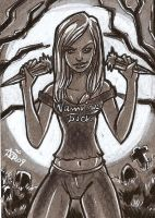 Buffy Sketch card by mainasha