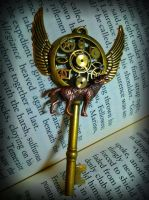 Mechanical Moon Fantasy Key by ArtByStarlaMoore
