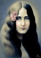 Portrait of a Long Haired Girl by Fihril