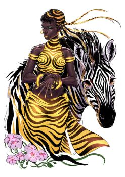 Golden Zebra by Darsy