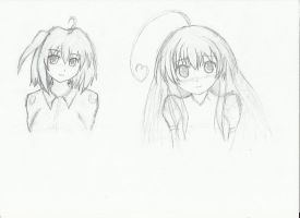Afterschool of the 5th Year Sketches (practise) by partybeast1
